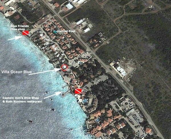 Satelite photo Villa Ocean Blue